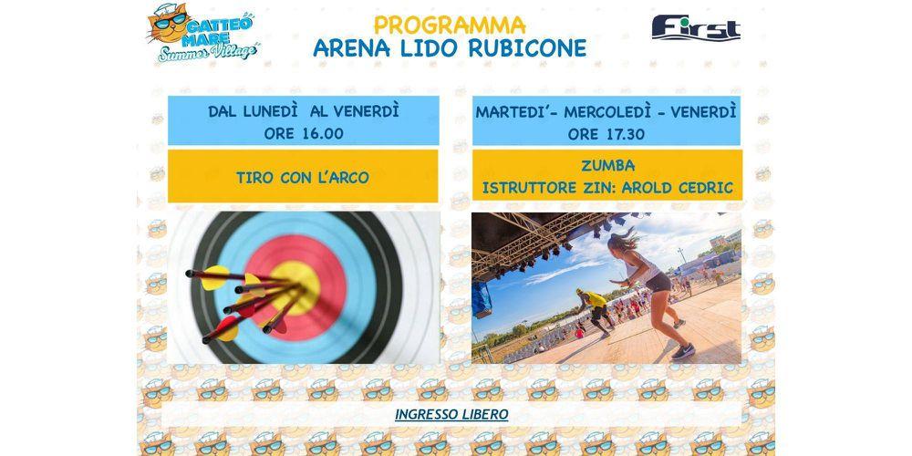 Programma wellness dell'arena Lido Rubicone